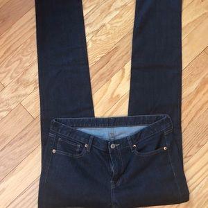 Dark navy Uniqlo skinny jeans